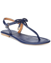 Nautica Women's Bahia T Strap Bow Sandals Women's Shoes Navy