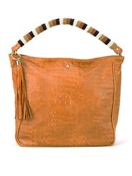 Xaa Leather Shoulder Bag Brown