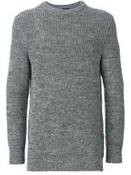 Lanvin Chunky Knit Sweater Grey