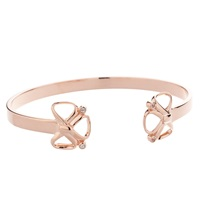 Sarah Ho Sho Bow Bangle Rose Gold Silver