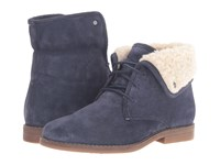 Hush Puppies Marthe Cayto Navy Suede Women's Pull On Boots Blue
