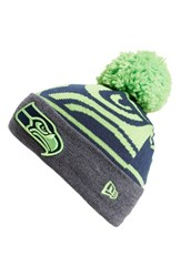 Men's New Era Cap 'Logo Whiz Seattle Seahawks' Pompom Knit Beanie