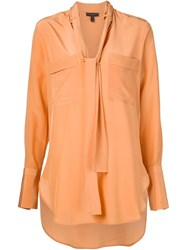 Belstaff Shawl Collar Oversized Shirt Yellow And Orange