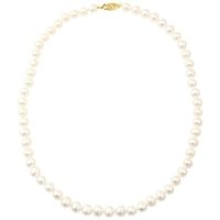 A B Davis 9Ct Freshwater Pearl Necklace White