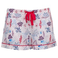 Cyberjammies Heidi Floral Print Pyjama Shorts Red Blue