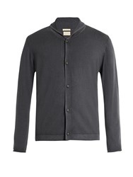 Massimo Alba Scoop Shawl Collar Cashmere Cardigan Grey