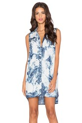 True Religion Georgia Button Down Dress Blue