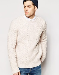 Levi's Crew Knit Jumper Fisherman Cable Multi Fleck Novotexmiddleton