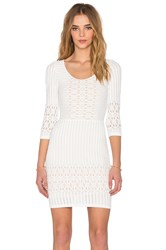 Nightcap Spiral Lace Scoop Dress White