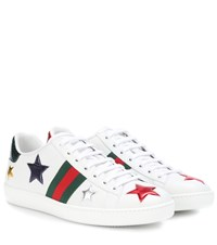 Gucci Ace Leather Sneakers White