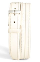 Mezlan 'Parma' Leather Belt Bone