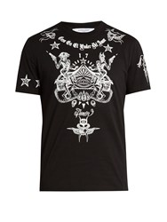 Givenchy Cuban Fit Tattoo Print T Shirt Black