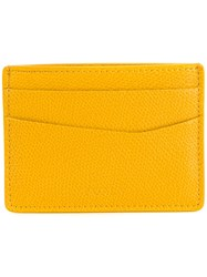 Furla Textured Cardholder Yellow Orange