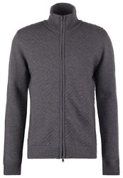 Dkny Cardigan Smoke Heather Mottled Dark Grey