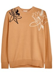 Demy Lee Remy Apricot Floral Cashmere Jumper Nude