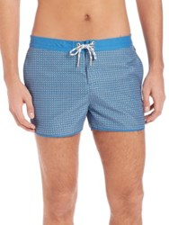 Original Penguin Slim Fit Box Trunk Vallarta Blue
