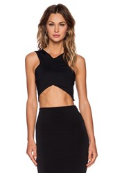 Donna Mizani V Strap Crop Top Black