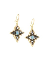 Armenta Old World Opal And Diamond Pointed Cross Drop Earrings No Color