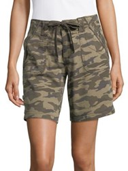 Jag Adeline Camouflage Drawcord Shorts Drab Green