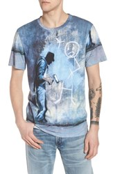 Eleven Paris Elevenparis Grey Ghost T Shirt Blue White