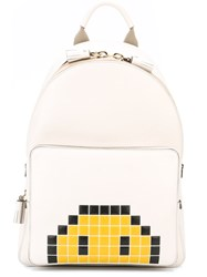 Anya Hindmarch Mini 'Smiley' Backpack White