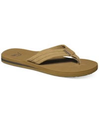 Quiksilver Carver Suede Thong Sandals Tan