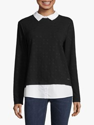 Betty And Co. Layer Effect Spotted Top Black