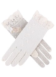 Dents Ladies Cotton Crochet Gloves Ecru