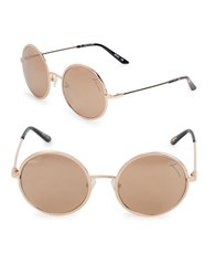Brian Atwood 54Mm Round Sunglasses Rose Gold