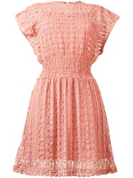 Red Valentino Sheer Flared Dress Pink Purple