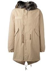 Mr And Mrs Italy Drawstring Detail Parka Coat Nude Neutrals