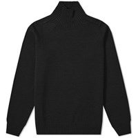 Mhl By Margaret Howell Saddle Sleeve Roll Neck Knit Black