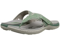 Earth Colada Mint Leather Spandex Women's Sandals Green