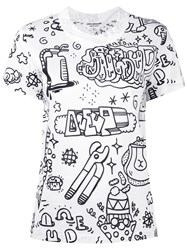 Comme Des Garcons Junya Watanabe Illustrated T Shirt White