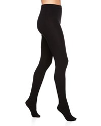 Neiman Marcus Fleece Lined Ponte Tights Black