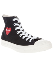 Comme Des Garcons Play High Top Sneaker White