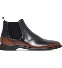 Officine Creative Vautier 2Tone Leather Chelsea Boots Blk Brown