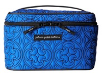 Petunia Pickle Bottom Embossed Travel Train Case Westminster Stop Wallet Blue