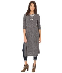 Free People To The Max Pullover Charcoal Women's Long Sleeve Pullover Gray