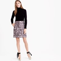 J.Crew Zip Mini Skirt In Feather Print