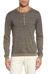 John Varvatos Men's Star Usa Henley Sweater Rye