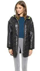 Alexander Wang Quilted Nylon Hooded Jacket Black