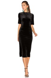 Bcbgeneration Velvet Midi Dress Black