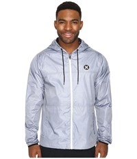 Hurley Blocked Runner 2.0 Jacket Pure Platinum Men's Coat Gray