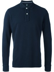 Eleventy Longsleeved Polo Shirt Blue