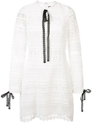 Alexis Laced Detail Dress White