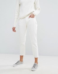 Jaeger Frayed Jean Antique White