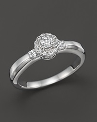 Bloomingdale's Diamond Round Cut Halo Engagement Ring In 14K White Gold .35 Ct. T.W.