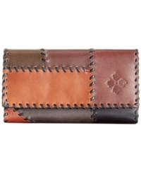 Patricia Nash Terresa Wallet Patchwork Chocolate