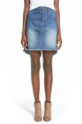 Fire Deconstructed Denim Skirt Juniors Blue